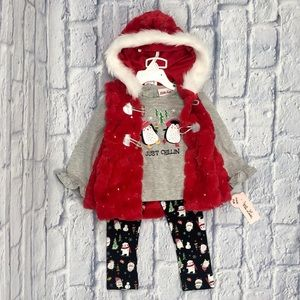 🎄Little Lass 3 Piece Christmas Holiday Outfit